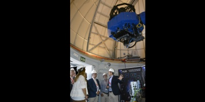 The President of Aragon, Javier Lambán, visits the facilities of the OAJ (Observatorio Astrofísico de Javalambre)